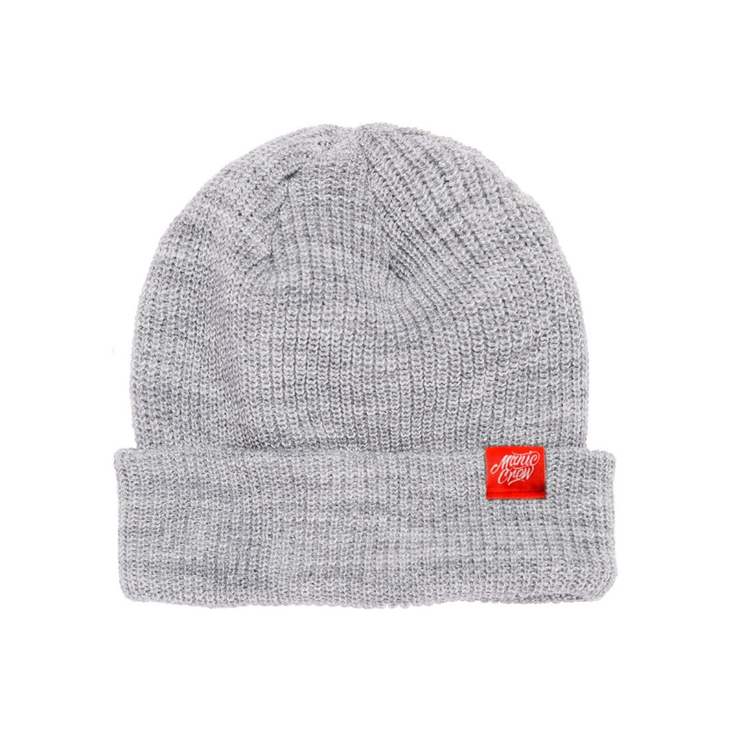 THE CREW BEANIE - HEATHER GREY