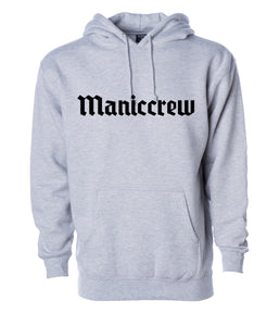 Maniccrew Embroidery Hoodie - Grey Heather