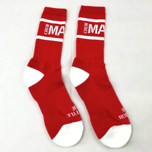 Manic Crew Classic Active Crew Socks - Red