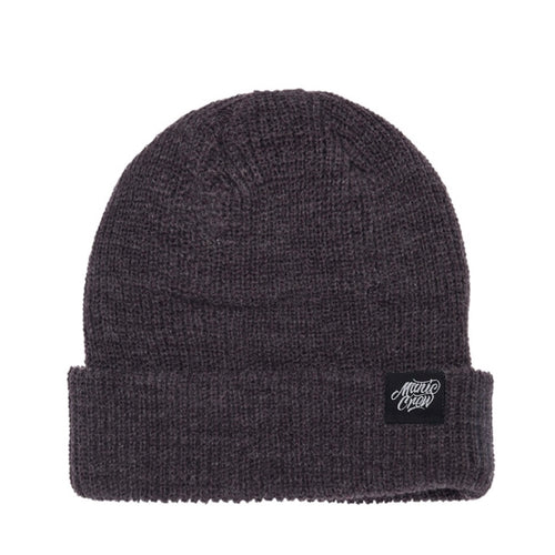 THE CREW BEANIE - METAL GREY