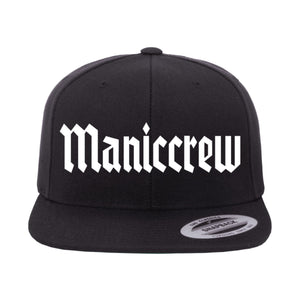 Maniccrew Snapback Hat - Black