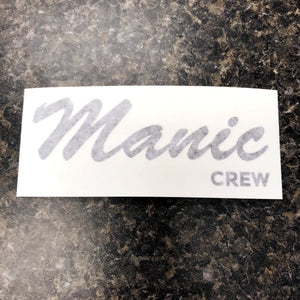 Manic Crew Die Cut Decal Sticker - Black