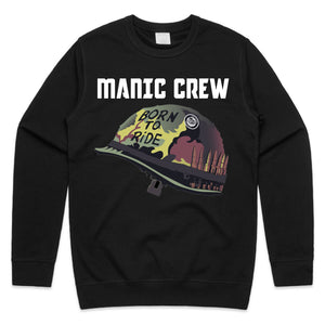 BORN TO RiDE - Black Crew Neck Sweatshirt