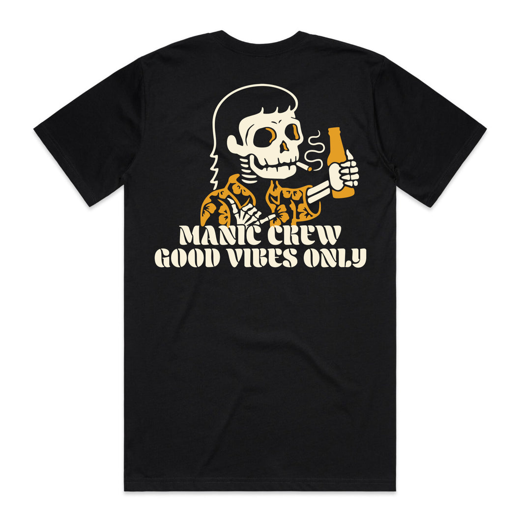 GOOD VIBES ONLY - Black Tee