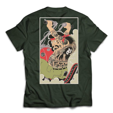 108 Heroes of Biker - Forest Green Tee