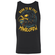 BORN TO BE FREE - Black Tank Top