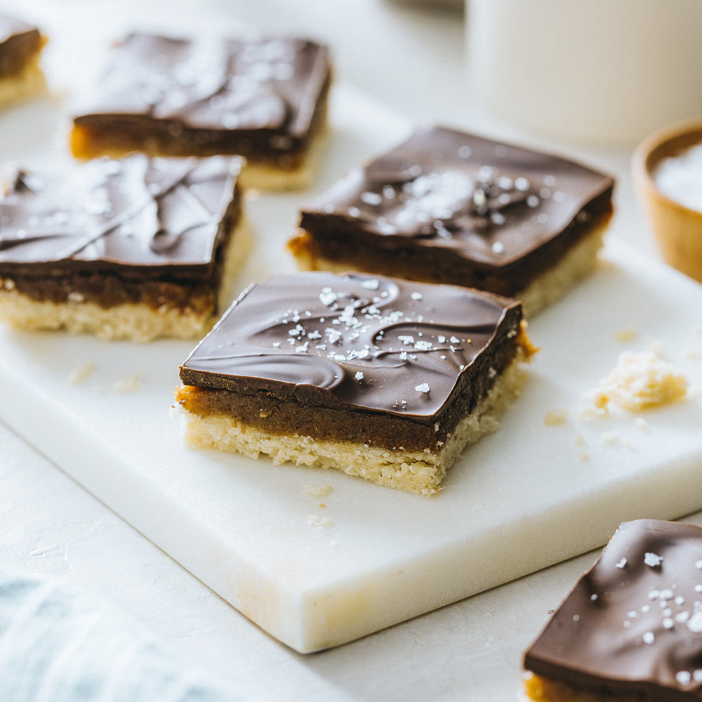 Chocolate and Caramel Shortbread Bars
