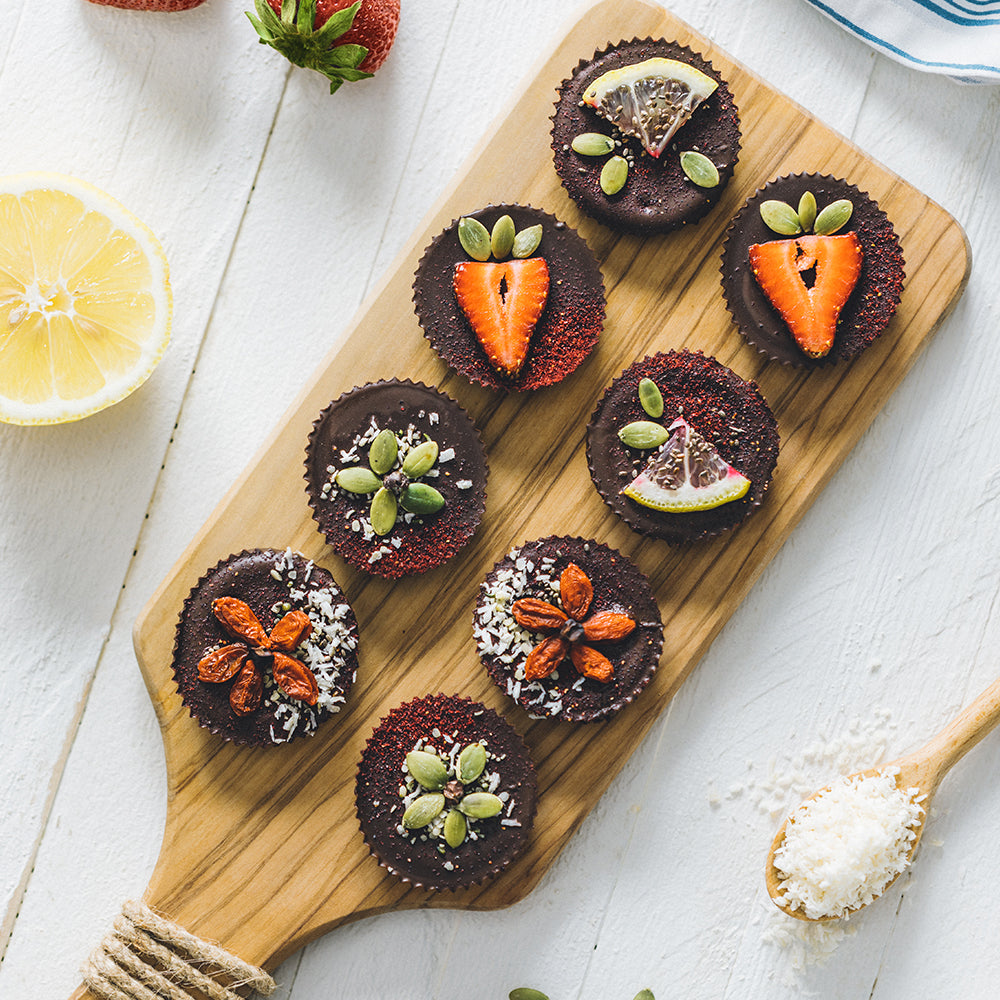 Sunflower Butter Cups with Colorful Toppings