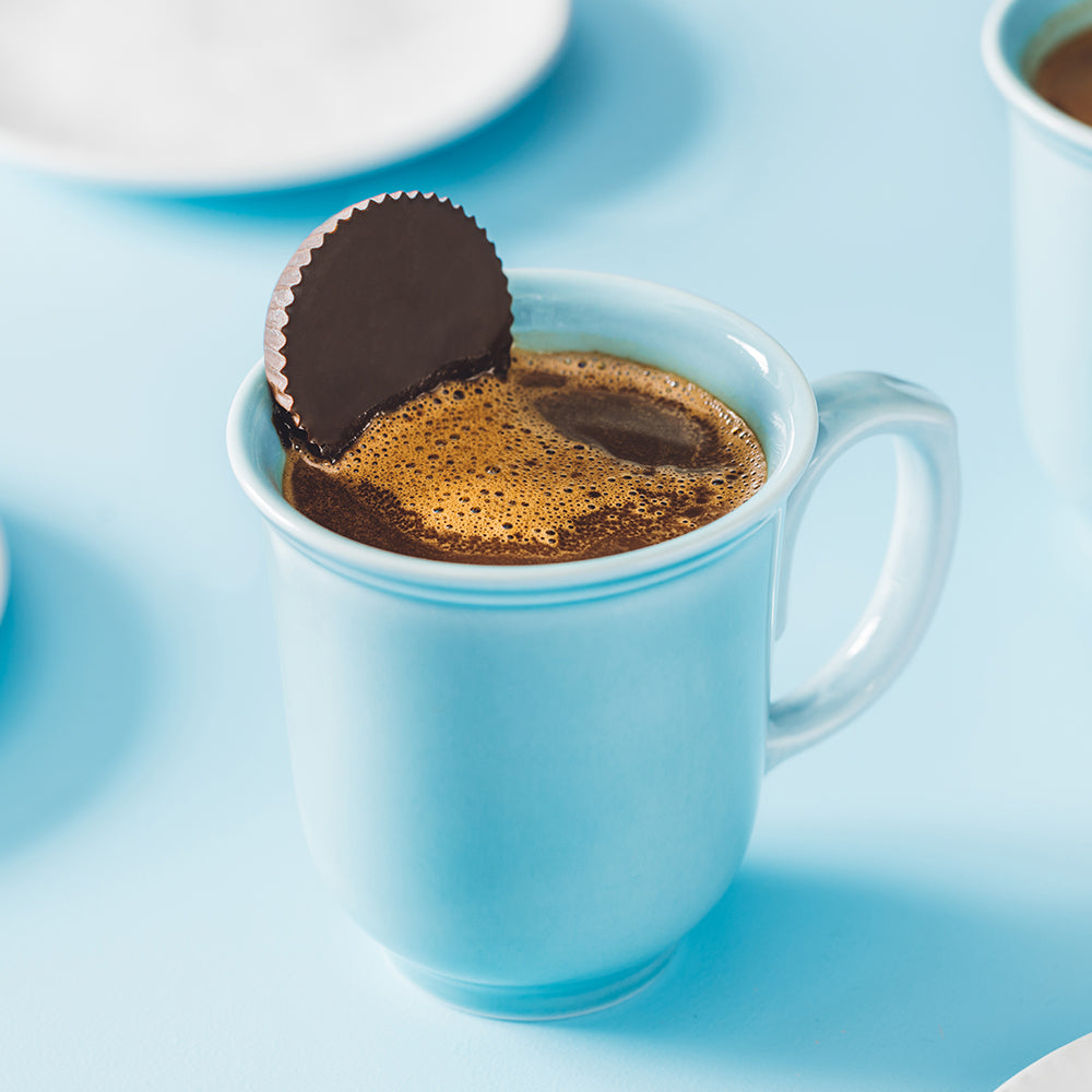 Hot Chocolate with Mint Cups