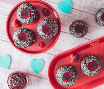 Raspberry Filled Chocolate Cupcakes with Dark Chocolate Sunflower Butter Mini Cups