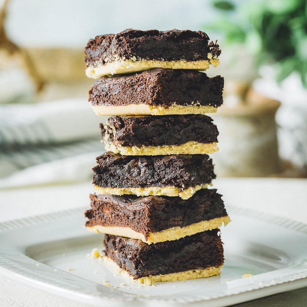 Chewy Chocolate Shortbread Brownies