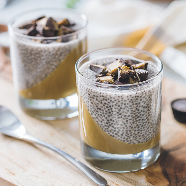 Sunflower Butter Cup Chia Pudding Parfait