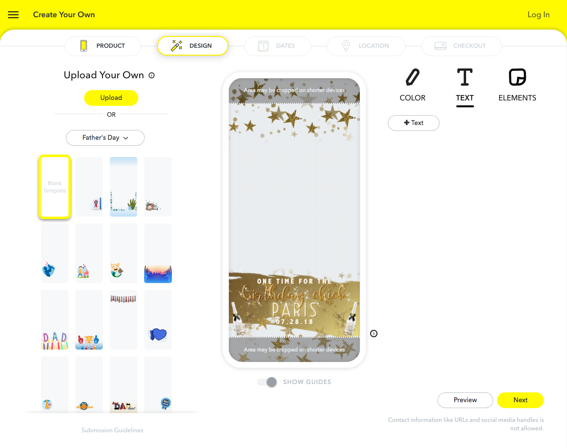 Preview How Snapchat Geofilter Will Look on Phone