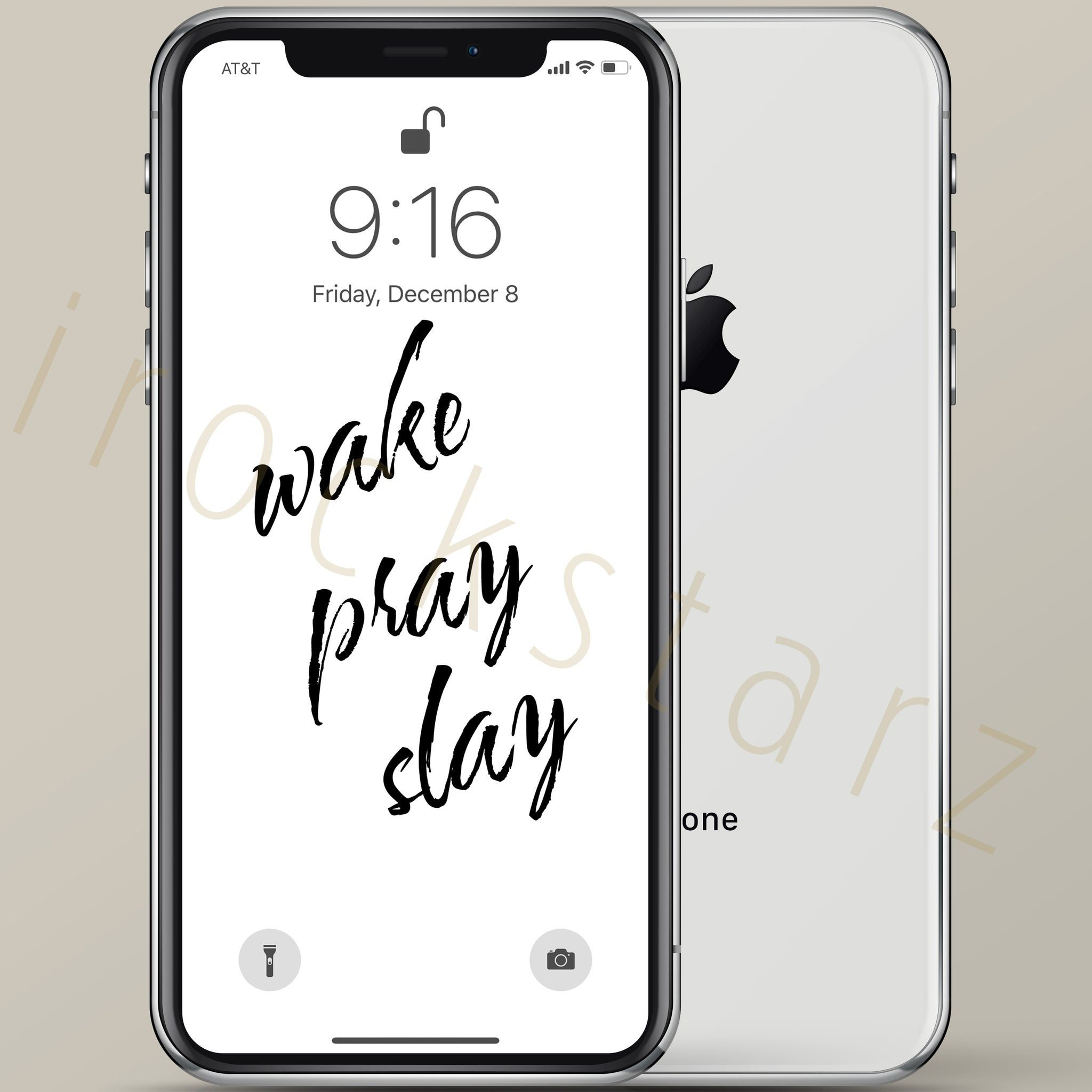 Wake Pray Slay iPhone Wallpaper