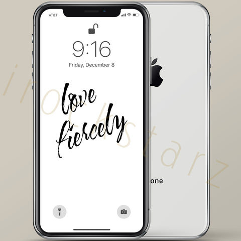 Love Fiercely iPhone Wallpaper