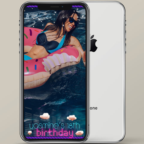 Birthday Clouds Snapchat Geofilter