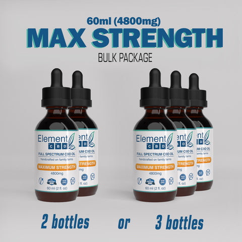 60ml (4800mg) Maximum Strength - Bulk Package