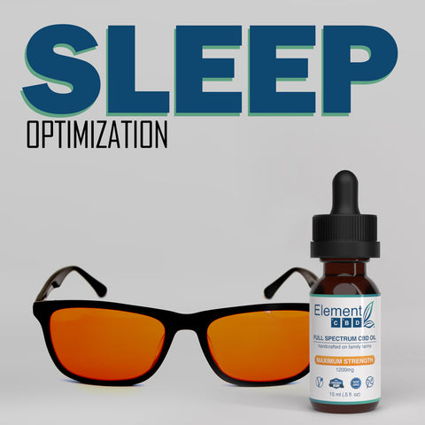 Sleep Optimization Bundle:  Max Strength CBD Oil + Blue Light Blocking Glasses