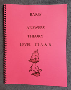 Barss Theory: Level 3 Answer Book