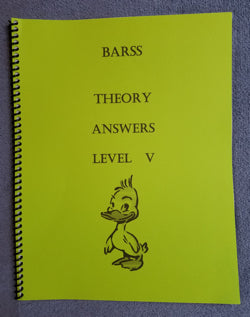 Barss Theory: Level 5 Answer Book