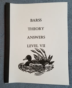 Barss Theory: Level 7 Answer Book