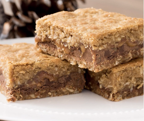 CHOCOLATE CARAMEL OAT BARS