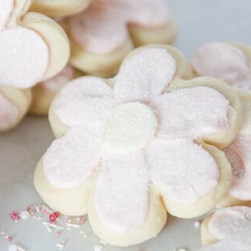 FLOWER SHAPED SUGAR COOKIES
