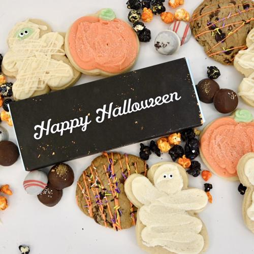 Cakebites, Halloween Sugar Cookies, Popcorn, Chocolate Chunk Cookies