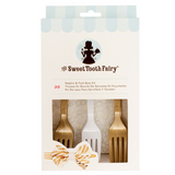 Fork and Bow Napkin Kit Gold