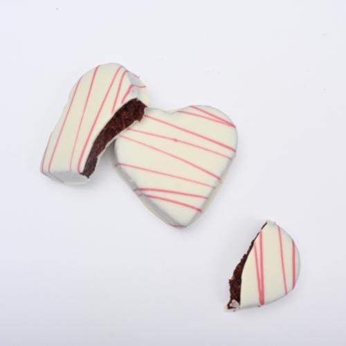 JUMBO RED VELVET CAKEBITE® HEARTS - 6 PACK