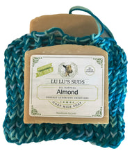 Soap Bag 100% Cotton Hand Knitted Deep Turquoise & Ombre