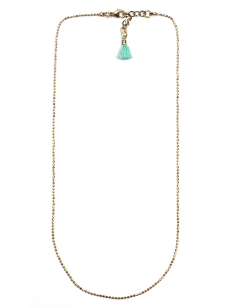 tassel chain necklace - SHOP CORDUROY