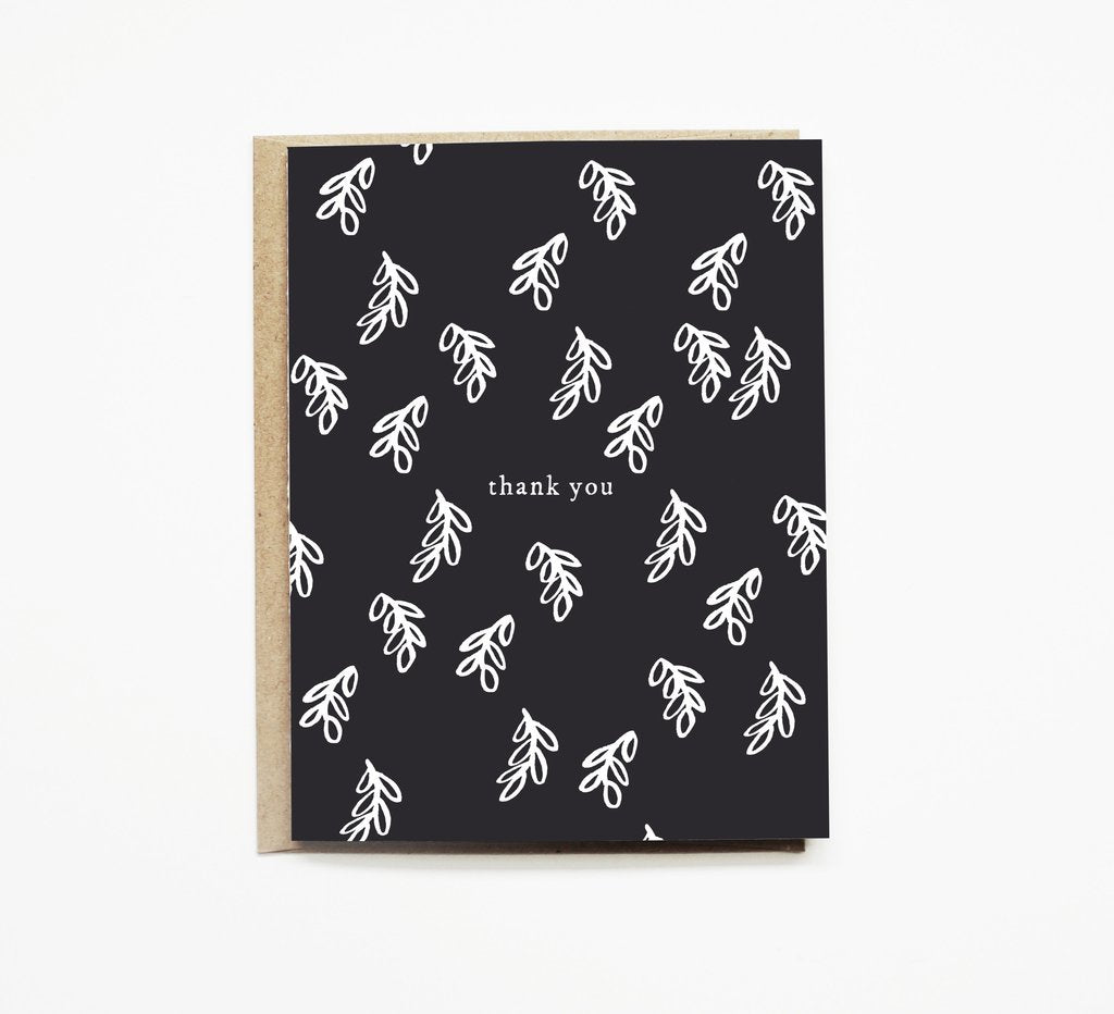 Black+White Branch Thank You Card - SHOP CORDUROY