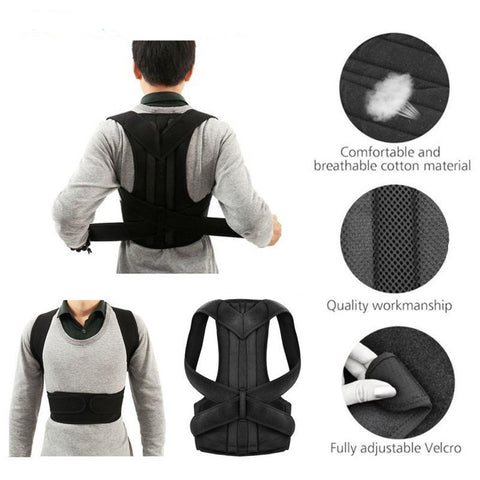 Unisex Posture-Corrective Therapy Back Brace