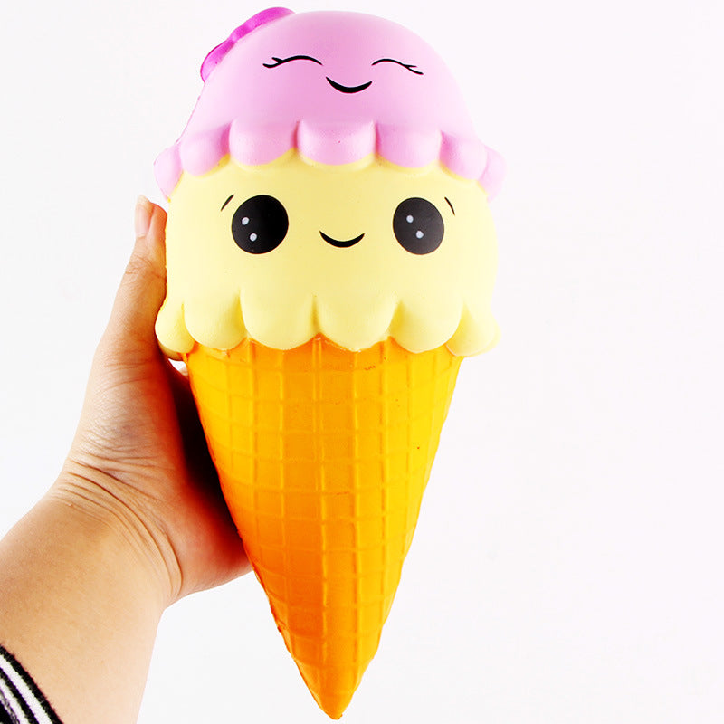Super JUMBO Double Scoop Smiling IceCream! (22CM)