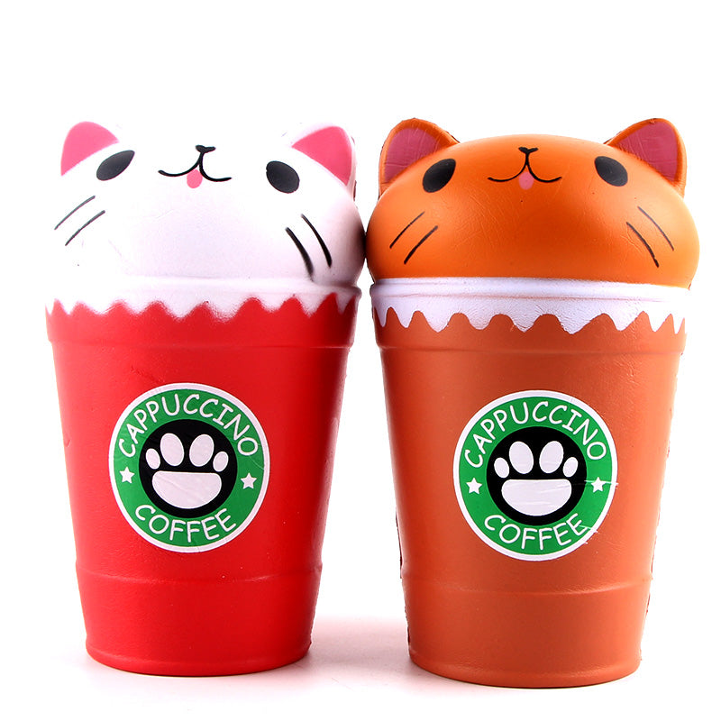 *New Cat Cappuccino Coffee Squishy