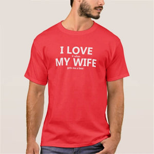 "Tee-shirt ""I love ... my wife ..."""