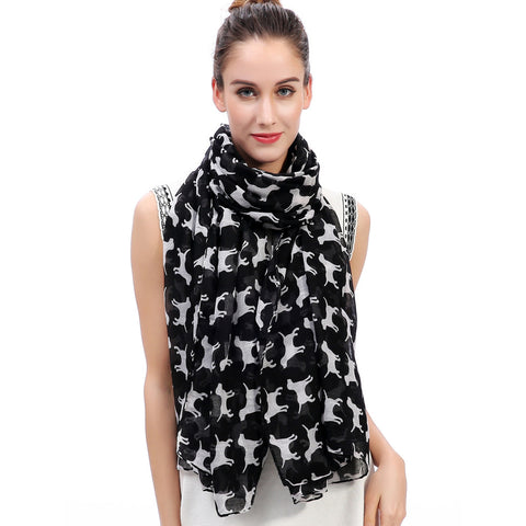 Long Labrador Retriever Print Scarf - Available in 7 Colors