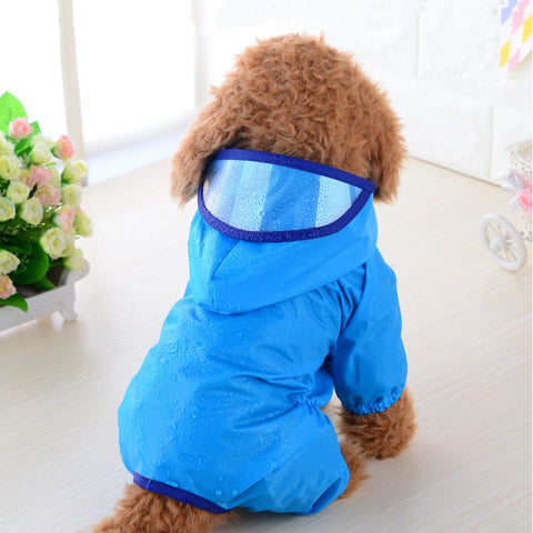 100% Waterproof Dog Raincoat - Available in 5 colors