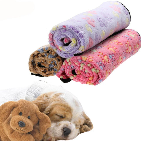 Warm and Cozy Pet Fleece Blanket  - 3 Colors