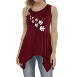 Women's Sleeveless Paw Print Top