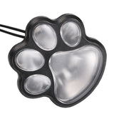 4 LED Paw Print Solar Powered Landscape Lights
