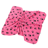 Paw Print Cotton Blanket  - available in 5 colors