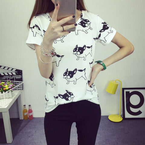 French Bulldog Fashion T-shirt for Women