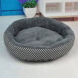 Round Soft Cushion Bed for Cats or Dogs - Available in 2 Sizes & 2 Colors