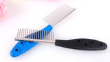 Stainless Steel Pet Comb for Dogs & Cats - 5 Colors Available