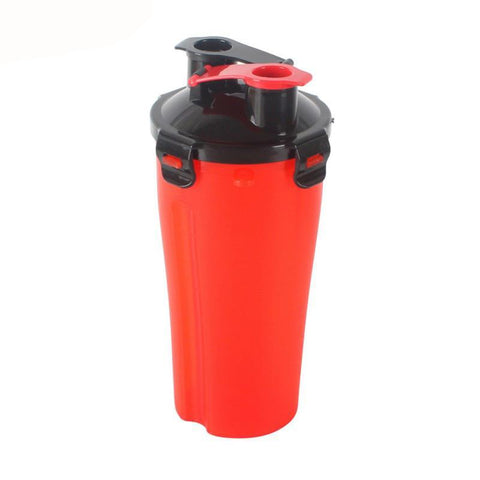 2 in 1 Food & Water Travel Bottle with Bowl - 4 Colors Available
