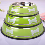 Stainless Steel Food and Water Bowl - Available in 3 sizes and colors