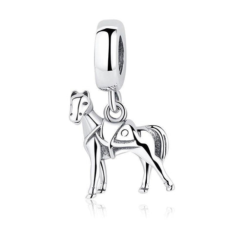 Sterling Silver Horse with Saddle Bead Charm