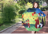 Cats & Poppies Modern Design Collapsible Rain Umbrella
